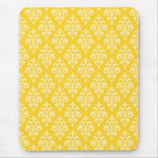 Yellow Damask Mousepad