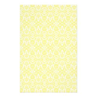 Yellow Damask Paper