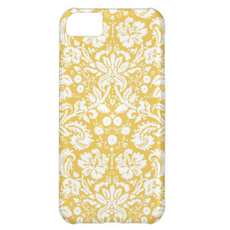 Yellow damask pattern iPhone 5C case