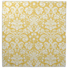 Yellow damask pattern napkin