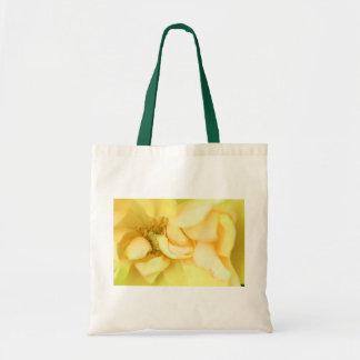 Yellow dancing rose petals