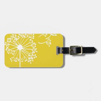 Yellow Dandelion Design Luggage Tag