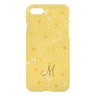 Yellow dandelion flower floral pattern monogram iPhone 8/7 case