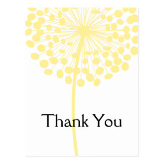 Yellow Dandelion Flower Thank You Postcards 2