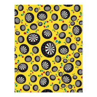 Yellow dartboard pattern 21.5 cm x 28 cm flyer