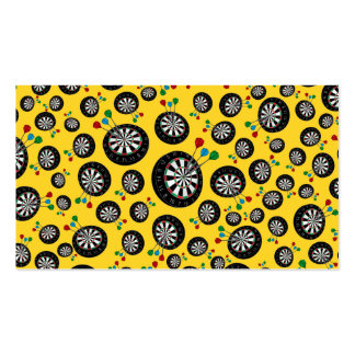 Yellow dartboard pattern pack of standard business cards