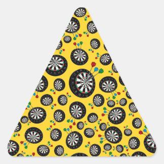 Yellow dartboard pattern triangle stickers