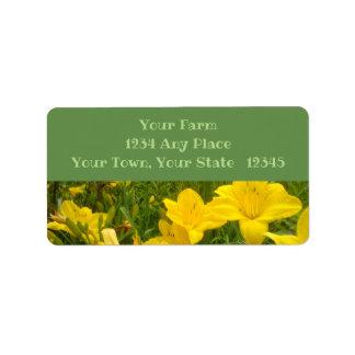 Yellow Daylilies Address Label