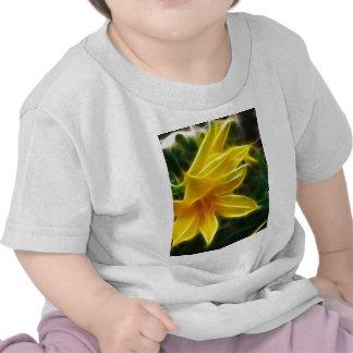 Yellow Daylily 5 Flare Tee Shirt
