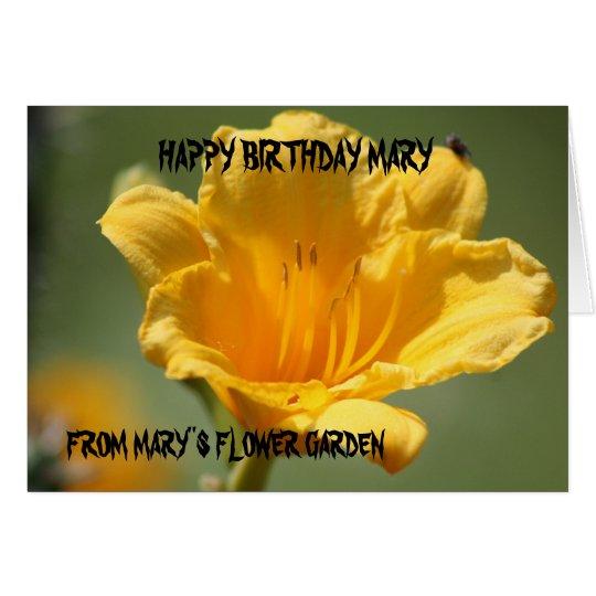 Yellow Daylily Birthday Card