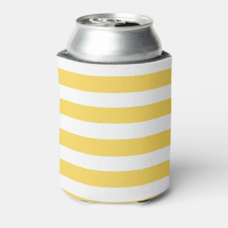 Yellow Deckchair Stripes Can Cooler