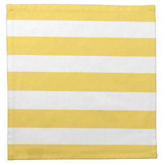Yellow Deckchair Stripes Napkin