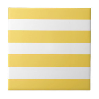 Yellow Deckchair Stripes Tile