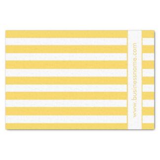 Yellow Deckchair Stripes Tissue Paper