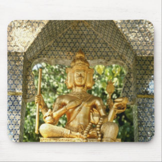 yellow Deities In Three Buddha Temple In Central H Mouse Pad