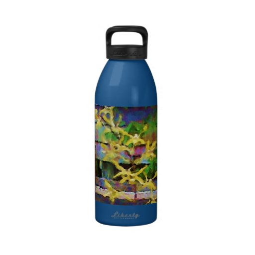Yellow Dendrobium Orchids Drinking Bottle