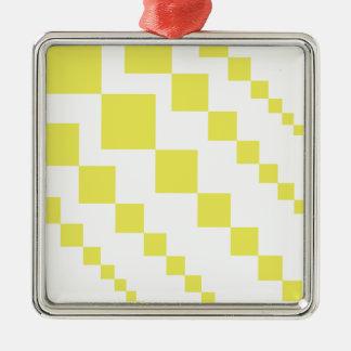 Yellow Descending Diamonds Christmas Ornament
