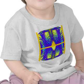 Yellow Diamond & Blue Cacti Gifts By Sharles T Shirts