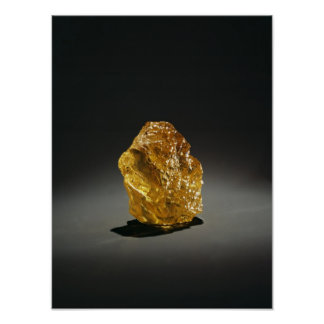 Yellow diamond in the rough print