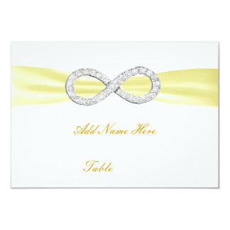 "Yellow Diamond Infinity Wedding Table Place Card 3.5"" X 5"" Invitation Card"