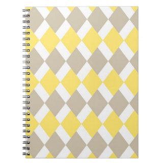 Yellow Diamond Pattern Note Books