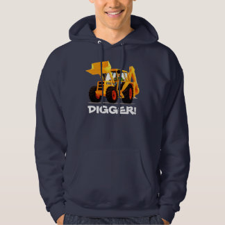 Yellow Digger Custom Construction Hoodie