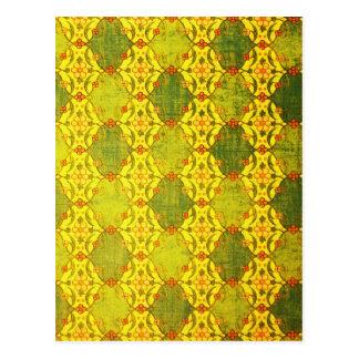 Yellow Digital Art Beautiful Design Style Fashion Postcard