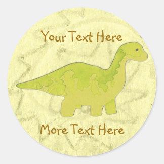 Yellow Dino Stickers
