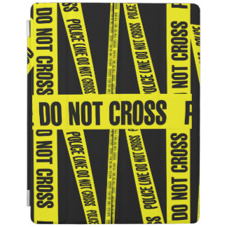 Yellow Do Not Cross Crime Scene Tape Danger Areas iPad Cover
