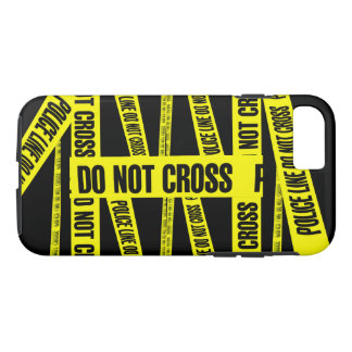 Yellow Do Not Cross Crime Scene Tape Danger Areas iPhone 8/7 Case