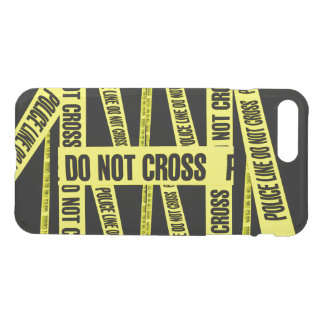 Yellow Do Not Cross Crime Scene Tape Danger Areas iPhone 8 Plus/7 Plus Case