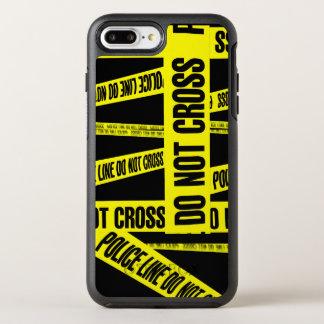 Yellow Do Not Cross Crime Scene Tape Danger Areas OtterBox Symmetry iPhone 8 Plus/7 Plus Case