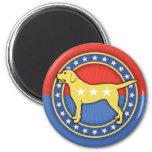 Yellow Dog 6 Cm Round Magnet