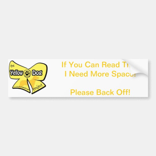 Yellow Dog Bumper Sticker