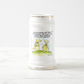 Yellow Dog Democrats Funny Beer Stein