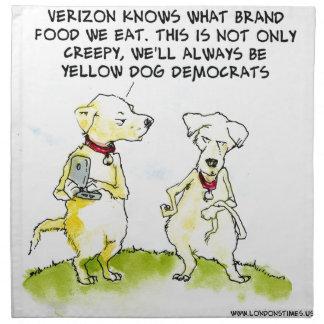 Yellow Dog Democrats Funny Cloth Napkins