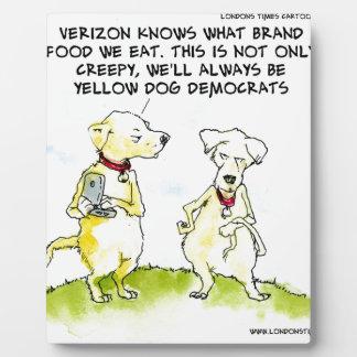 Yellow Dog Democrats Funny Display Plaques