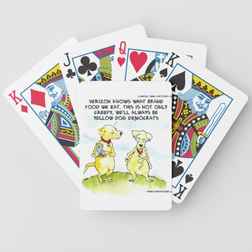 Yellow Dog Democrats Funny Bicycle Playing Cards