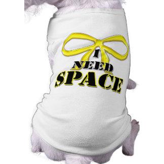 Yellow Dog I Need Space Shirt Sleeveless Dog Shirt