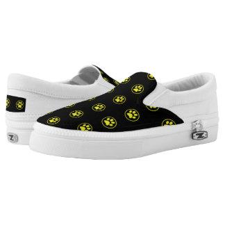 Yellow Dog Paw Pattern Pet Slip On Shoes