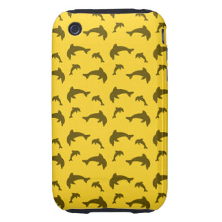 Yellow dolphin pattern iPhone 3 tough covers