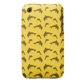 Yellow dolphin pattern iPhone 3 covers