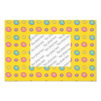 Yellow donut pattern photo print