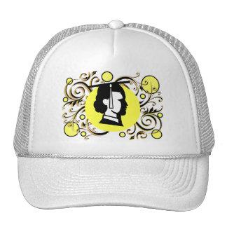 Yellow Dot Flourish Graduate Cap