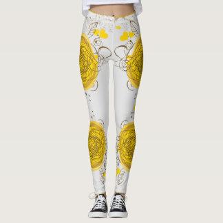 yellow dot legging