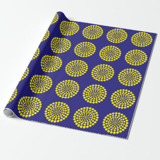 YELLOW DOT PRINT. CUSTOMIZABLE BACKGROUND COLOUR. WRAPPING PAPER