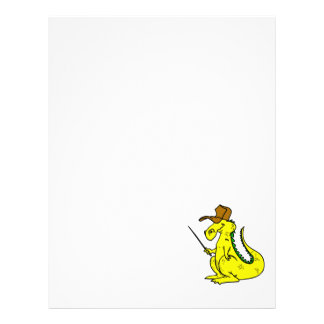 Yellow Dragon in Hat Full Color Flyer