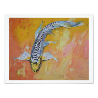 Yellow Dragon Koi Card