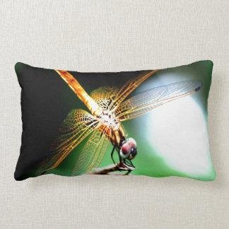 yellow dragonfly peace joy throw pillow