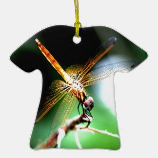 yellow dragonfly peace joy christmas ornaments